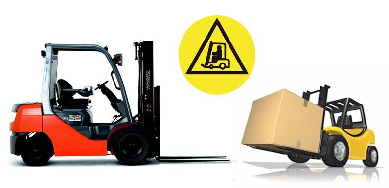 seguridad en uso de carretillas en el trabajo